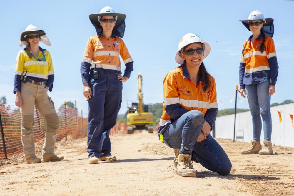 Dam upgrade project women