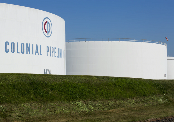 Colonial Pipeline storage tanks