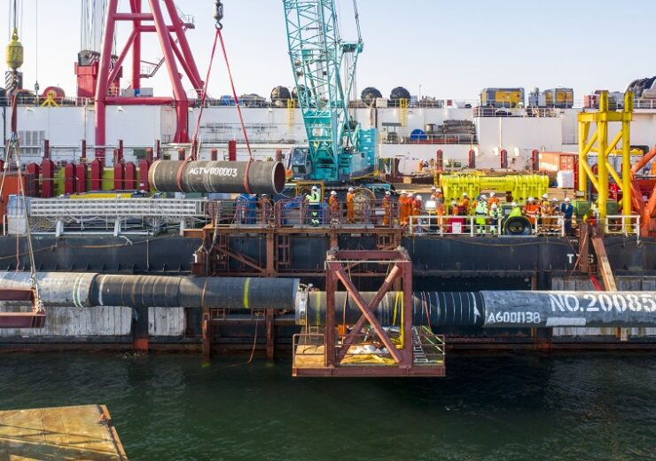 Nord Stream 2 - above water tie-in